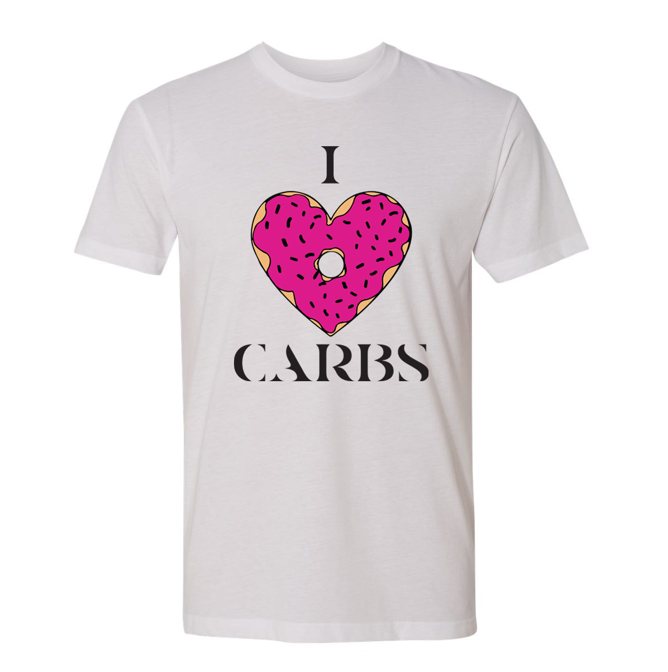 I Love Carbs Donut Tee (White)