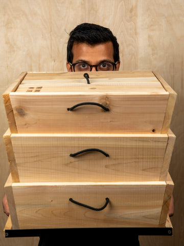 Akil with the Box of Life Worm Studio