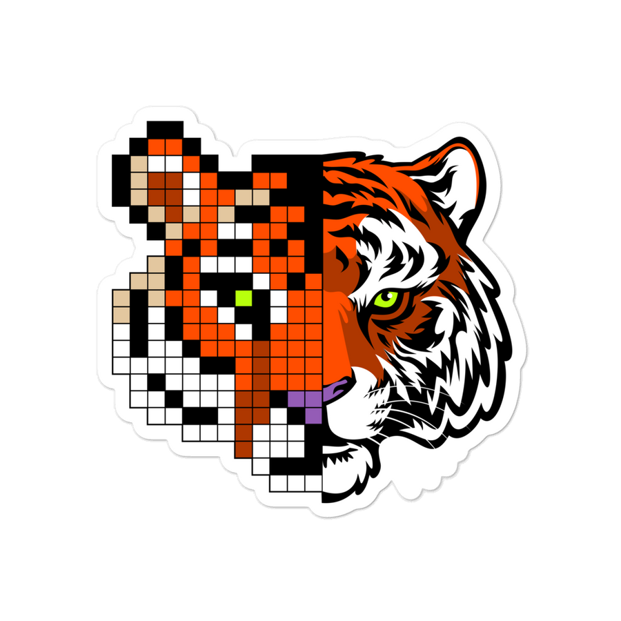 Tiger Pix Bubble-free stickers
