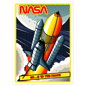 NASA To The Moon & Back Bubble-free stickers