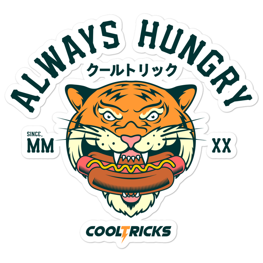 Always Hungry Bubble-free stickers