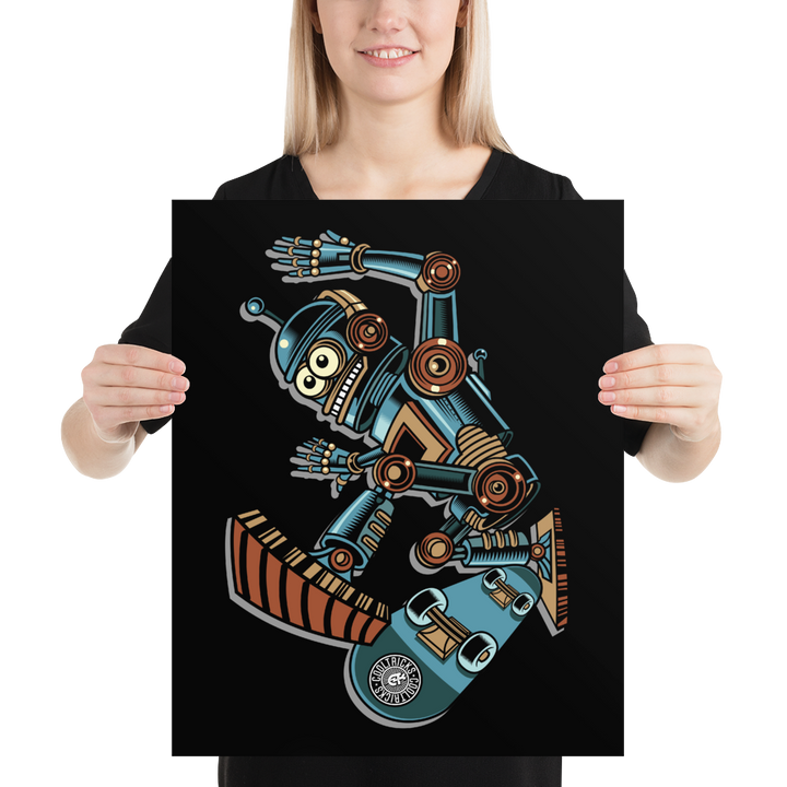 Robot Skater Poster - Shop Cool Tricks