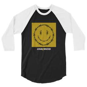 HAPPY BARBED WIRE raglan shirt