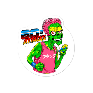 80's ATTACK Bubble-free stickers