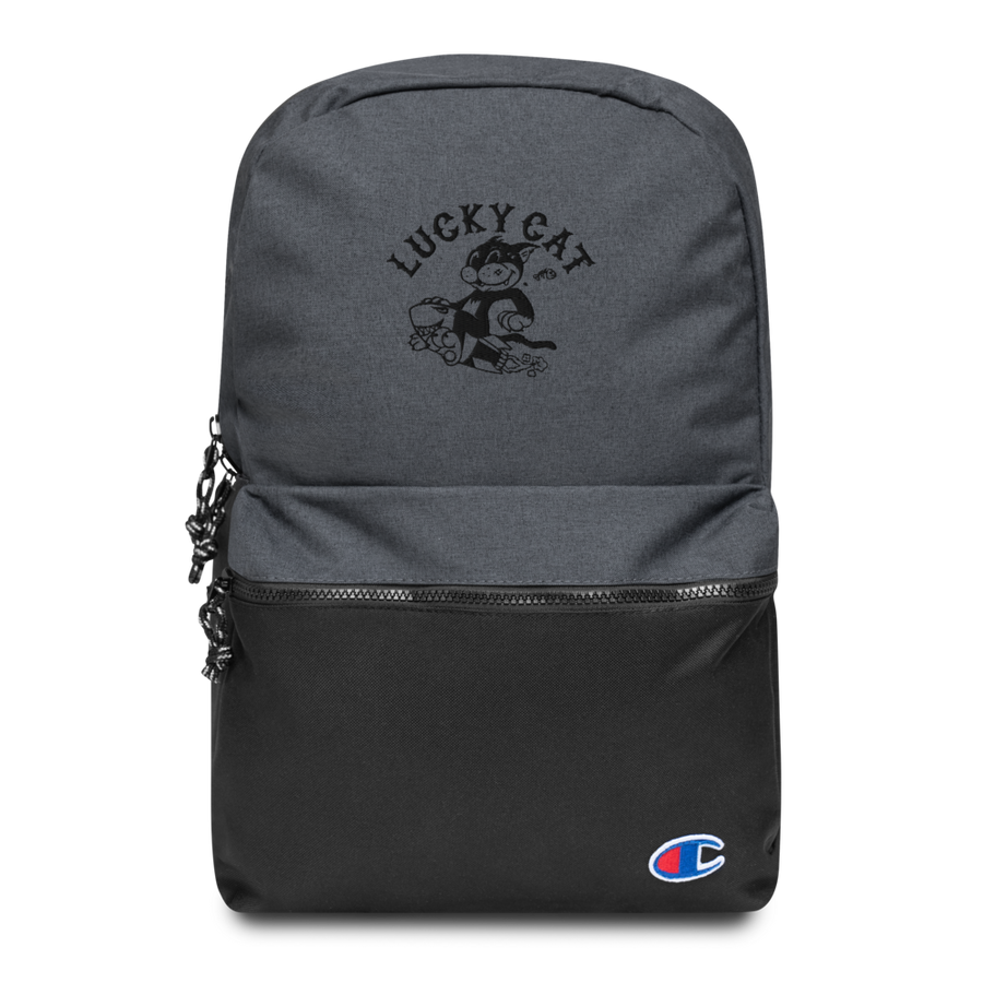 LUCKY CAT Embroidered Champion Backpack - Shop Cool Tricks