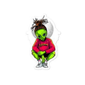 RASTA ALIEN Bubble-free stickers