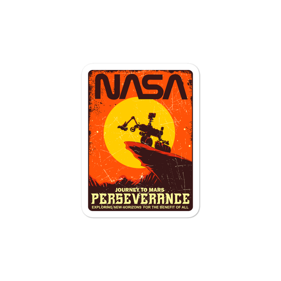 PERSEVERANCE Bubble-free stickers