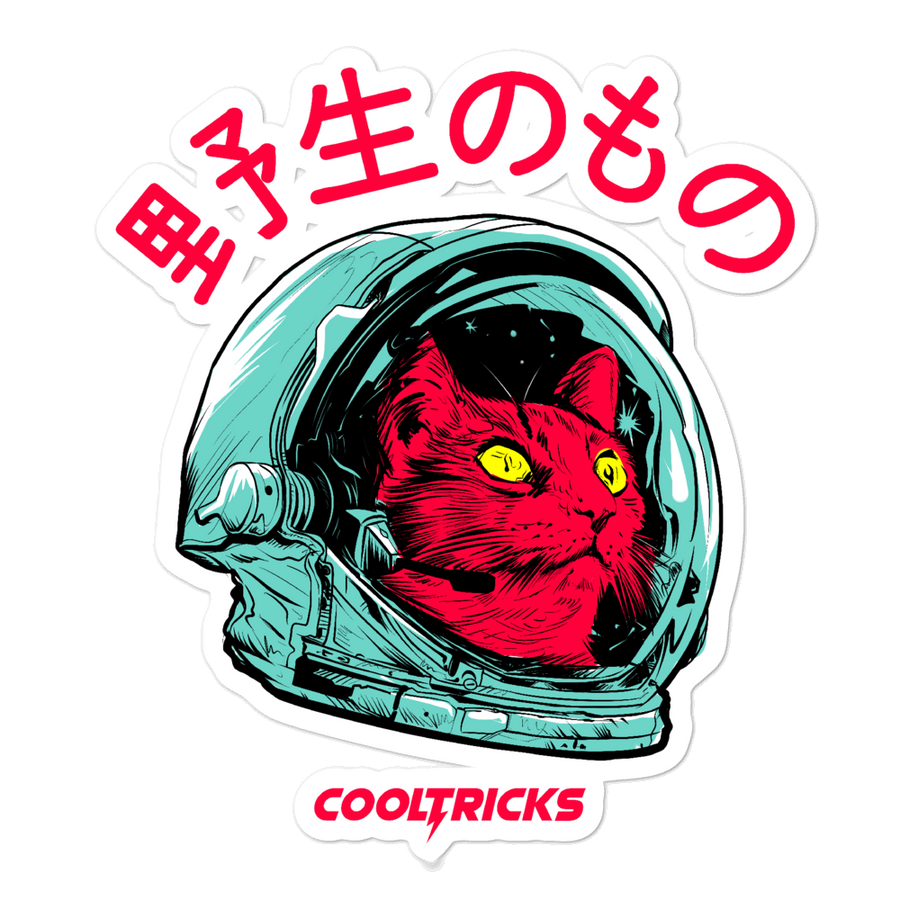 Space Cat Bubble-free stickers - Shop Cool Tricks