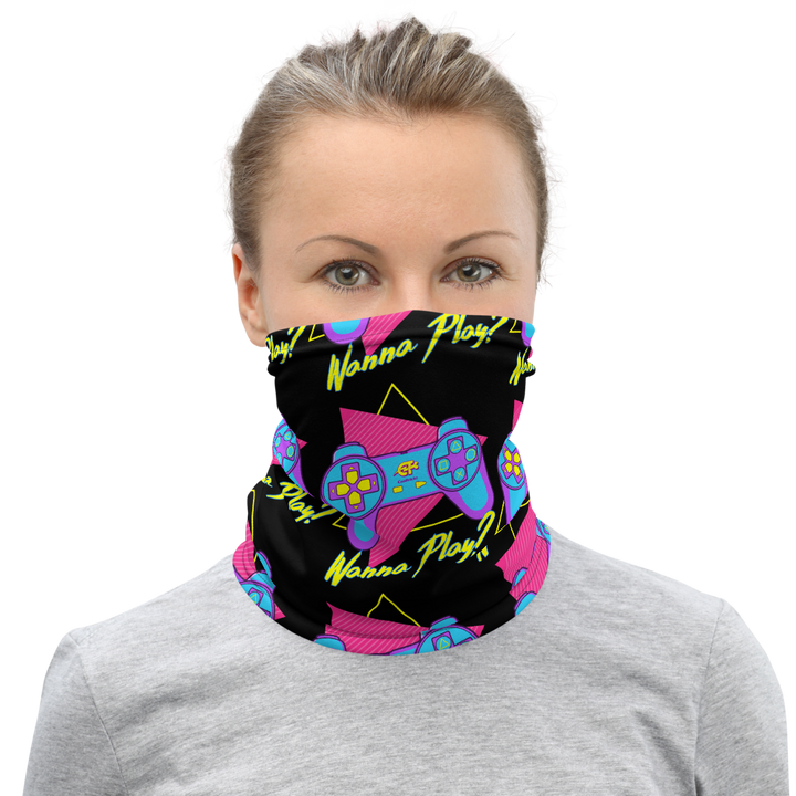 Kanji Play Neck Gaiter by Cool Tricks - Shop Cool Tricks