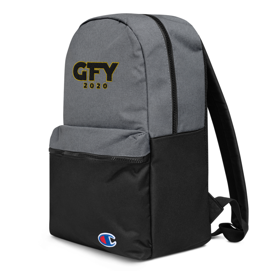 GO F**K YOURSELF 2020 Embroidered Champion Backpack
