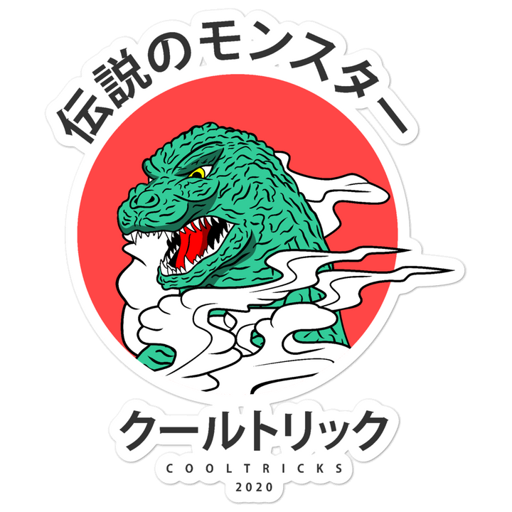 Kanji Lizard Bubble-free stickers - Shop Cool Tricks