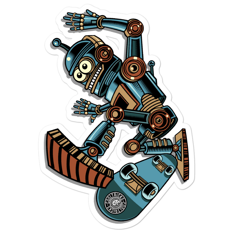 Robot Skater Bubble-free stickers - Shop Cool Tricks