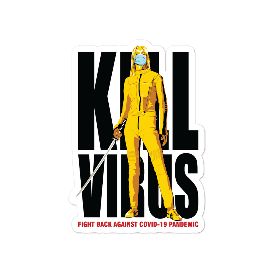 Kill Virus Bubble-free stickers - Shop Cool Tricks