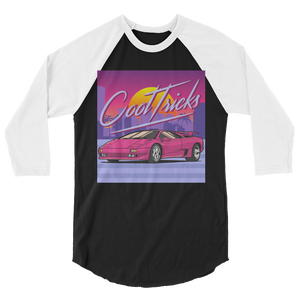 80'S SUNSET 3/4 sleeve raglan shirt - Shop Cool Tricks
