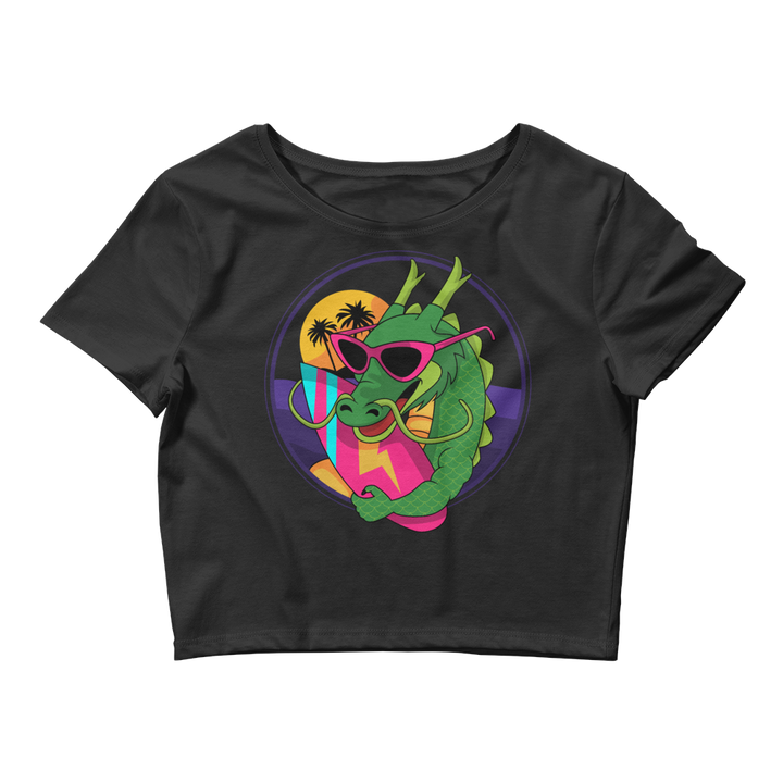 Surfer Dragon Crop Tee - Shop Cool Tricks