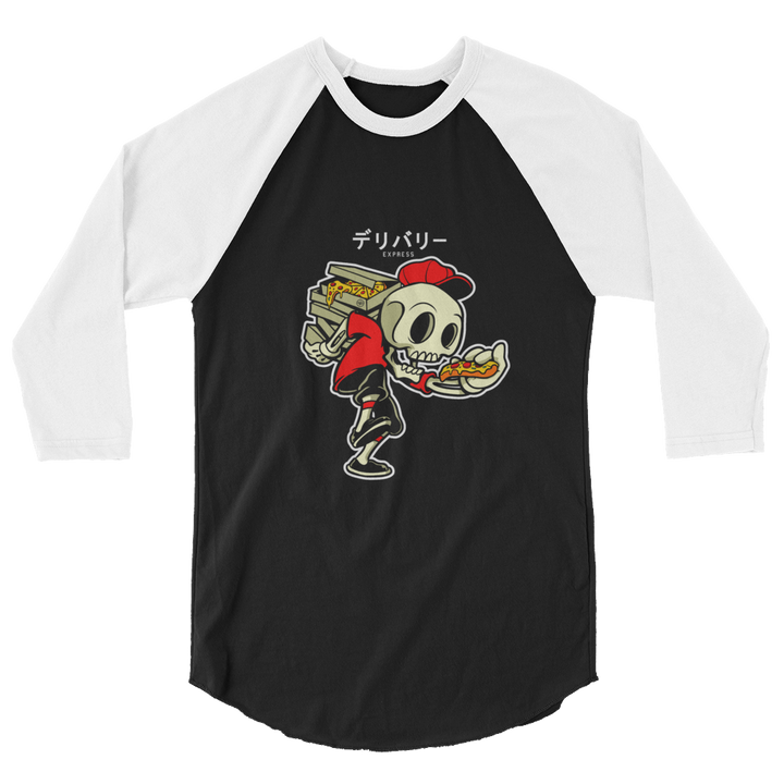 PIZZA DELIVERY DUDE 3/4 sleeve raglan shirt - Shop Cool Tricks