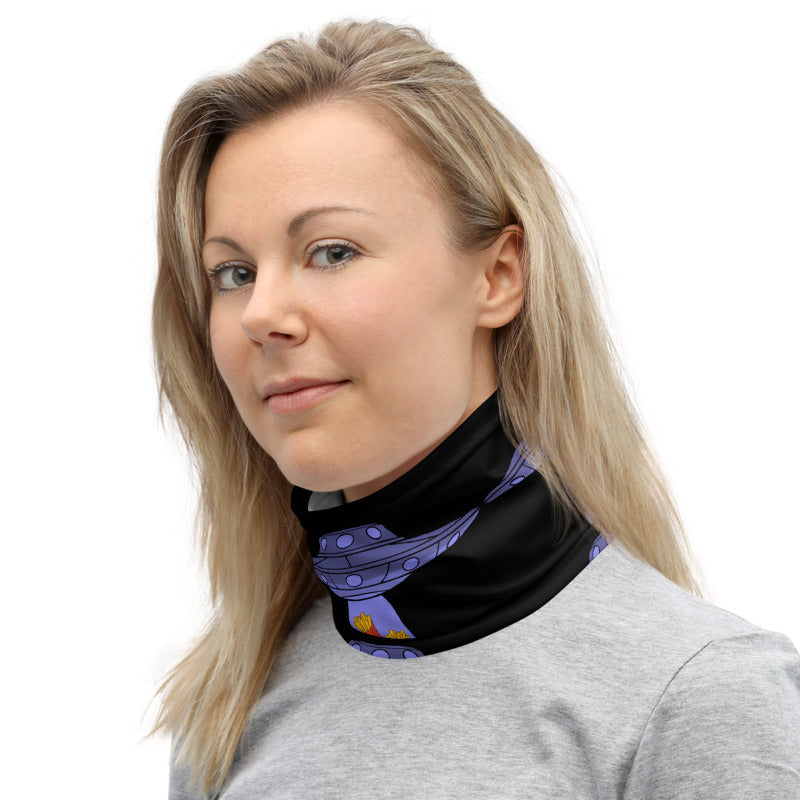 French Fries Abduction Neck Gaiter by Cool Tricks - Shop Cool Tricks