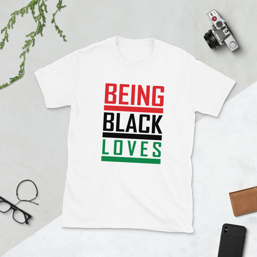 Being Black Loves Short-Sleeve Unisex T-Shirt