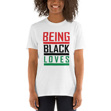 Load image into Gallery viewer, Being Black Loves Short-Sleeve Unisex T-Shirt