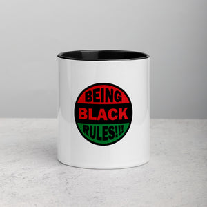 Being Black Rules!!! Mug with Color Inside