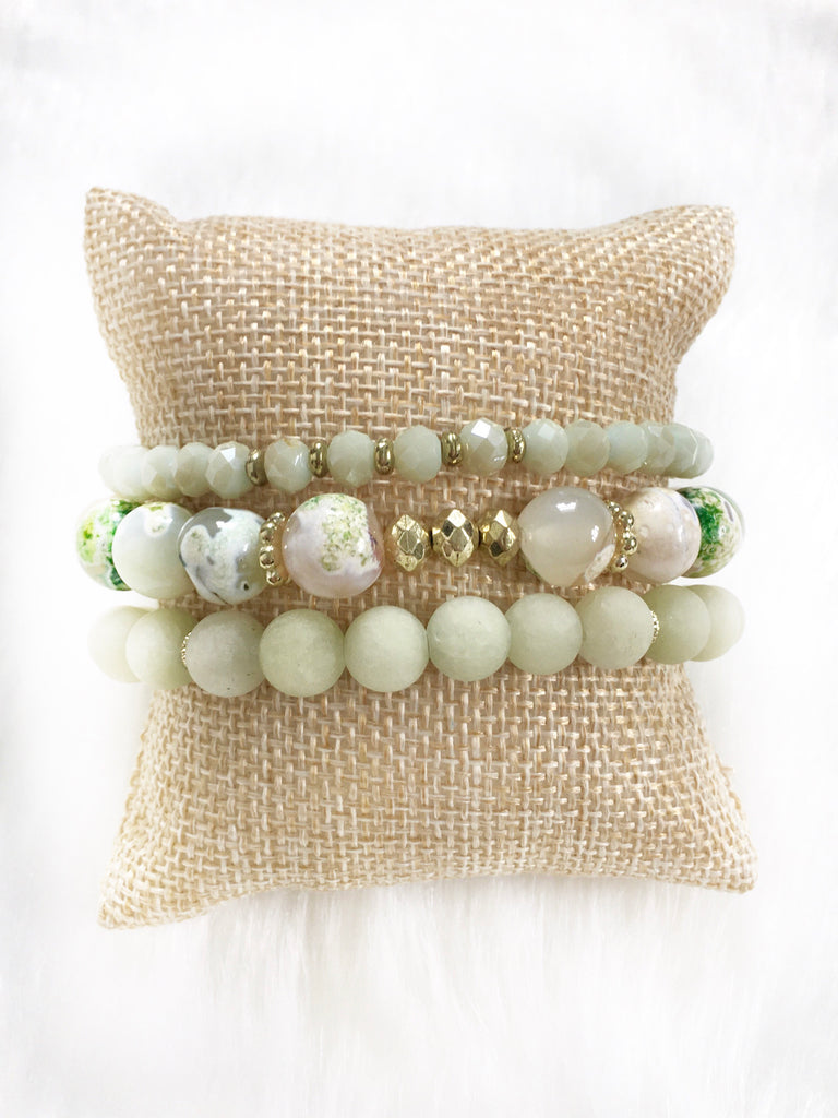 Light Green Bracelet Stack