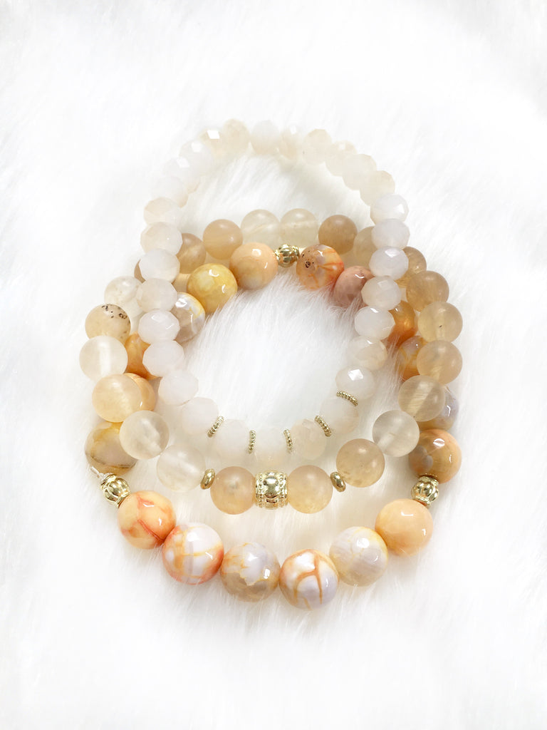 Light Orange Bracelet Stack