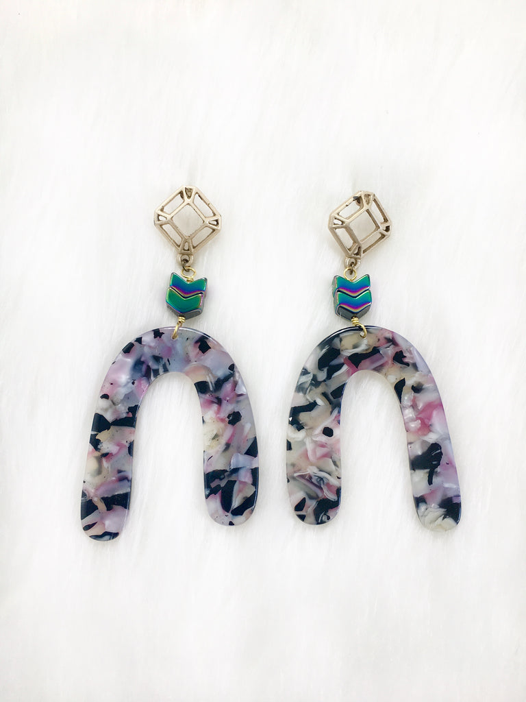 Geometric Resin Earrings
