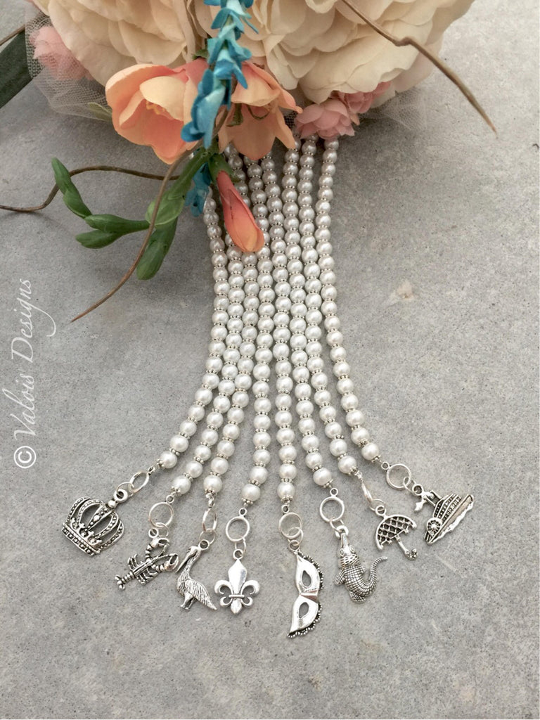New Orleans Wedding Cake Pull Bracelets - Set of 8