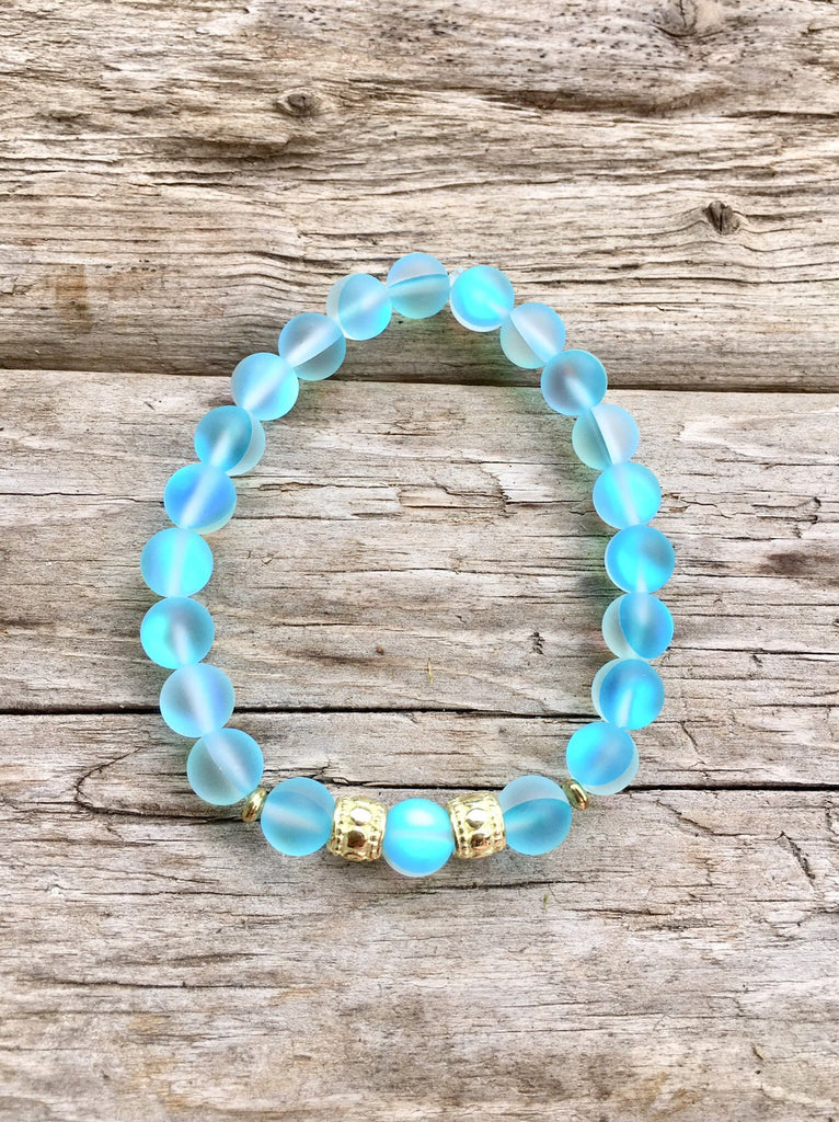 Blue Mermaid Glass Beaded Bracelets
