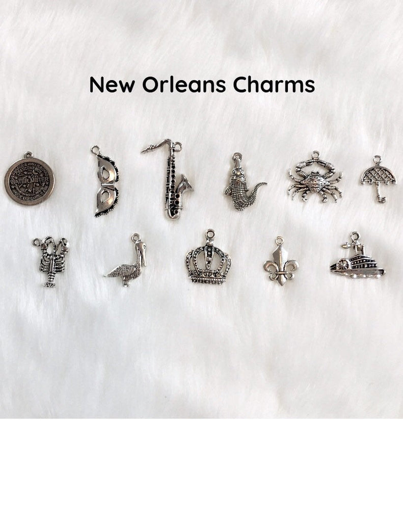 New Orleans Wedding Cake Pull Bracelets - Set of 10