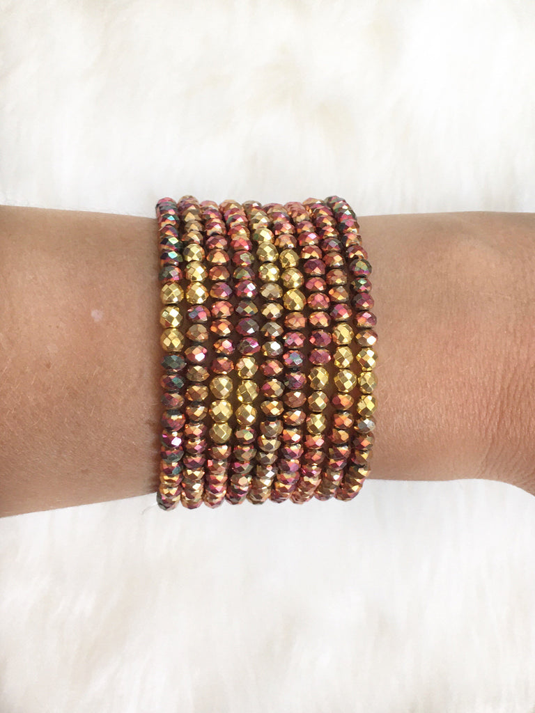 Multi Colored Czech Glass Bracelets