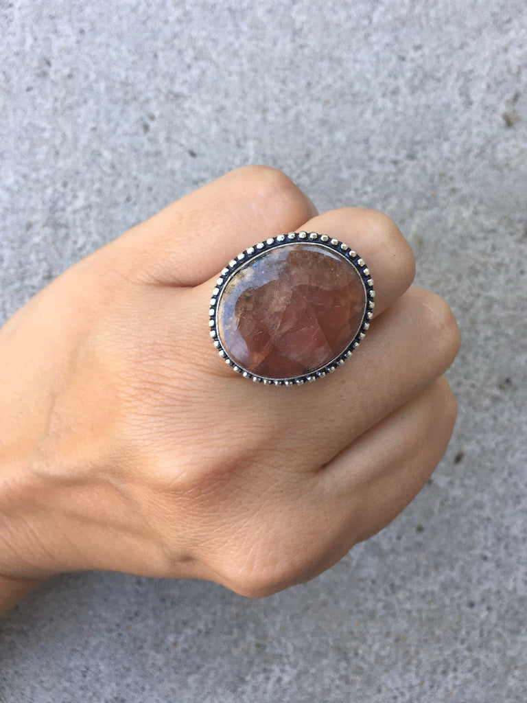 Quartz Stone Ring - Size 7
