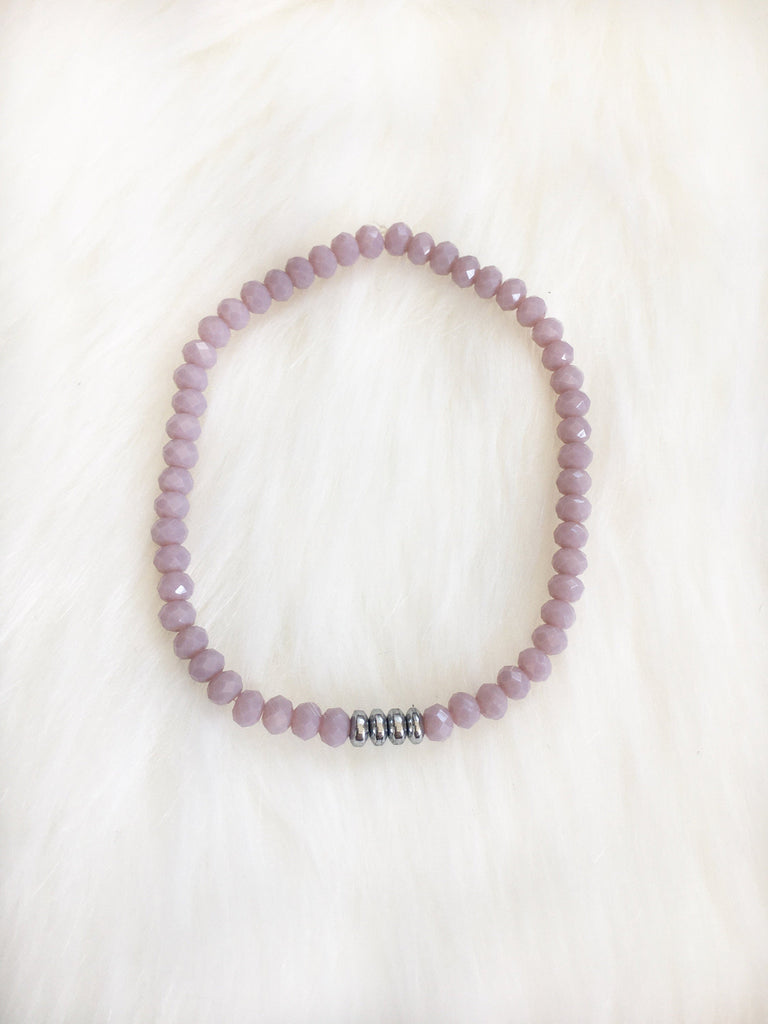 Lavender Czech Glass Bracelet