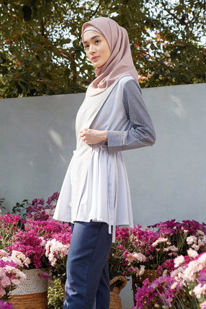 Rayya Grey Mix Stripe