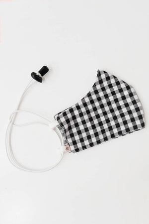 Load image into Gallery viewer, Headloop Cloth New Black Gingham