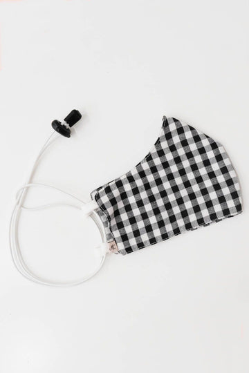 Headloop Cloth New Black Gingham