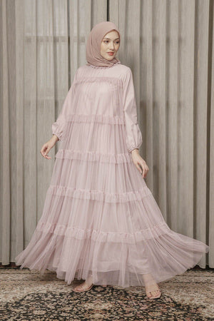 Load image into Gallery viewer, HIjabChic Himeka Lilac dress muslim wanita koleksi lebaran hijab chic