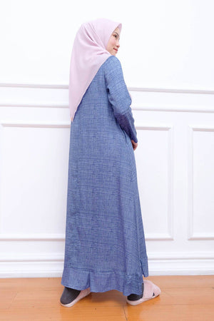 Load image into Gallery viewer, HijabChic Michiko Navy Pattern