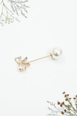 Pin bow brooch