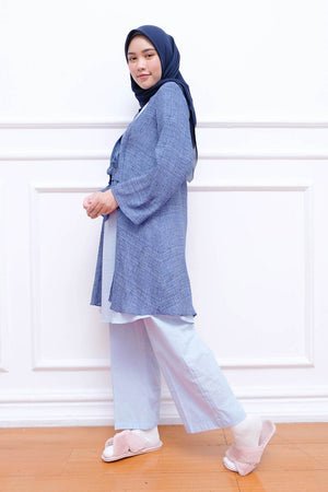Mika Pajamas Navy Pattern