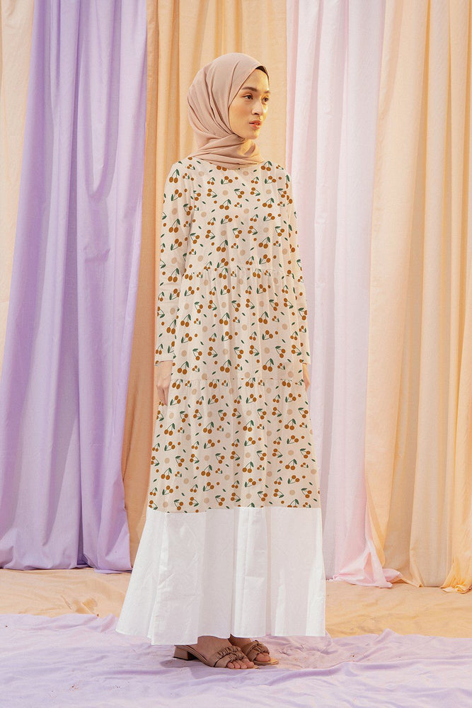 Load image into Gallery viewer, Alesse Cherry Pattern Dress