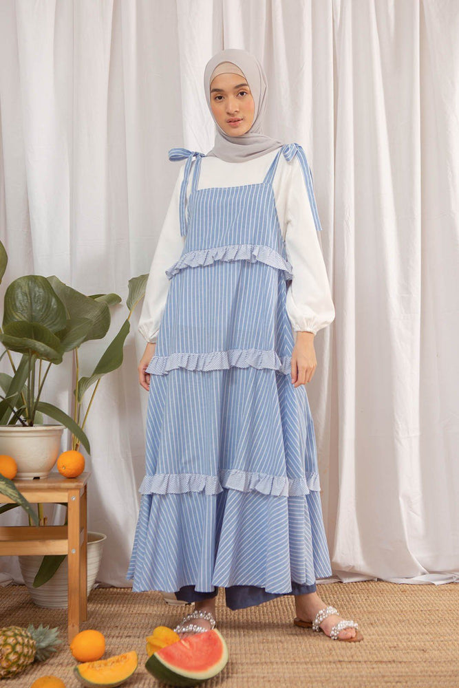 Linetta stripe blue dress