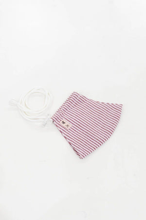 Headloop Cloth New Hairline Stripe Burgundy