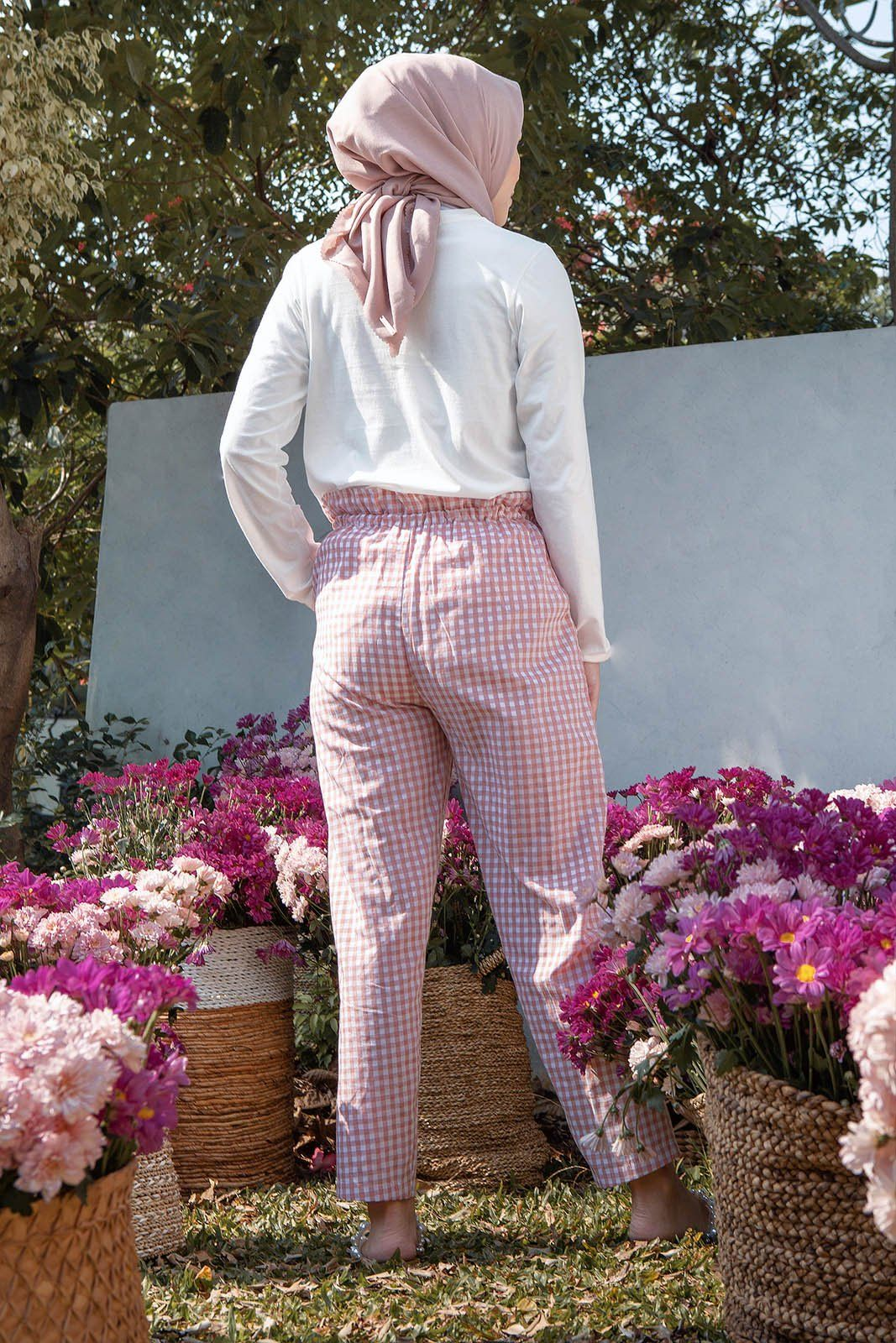 Zinnia Pink Gingham Pants