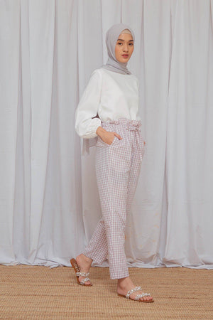 Load image into Gallery viewer, Zinnia Lilac Gingham Pants