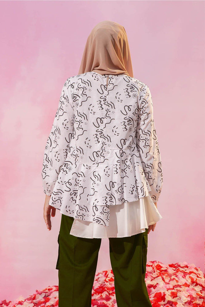 Emelline White Pattern top