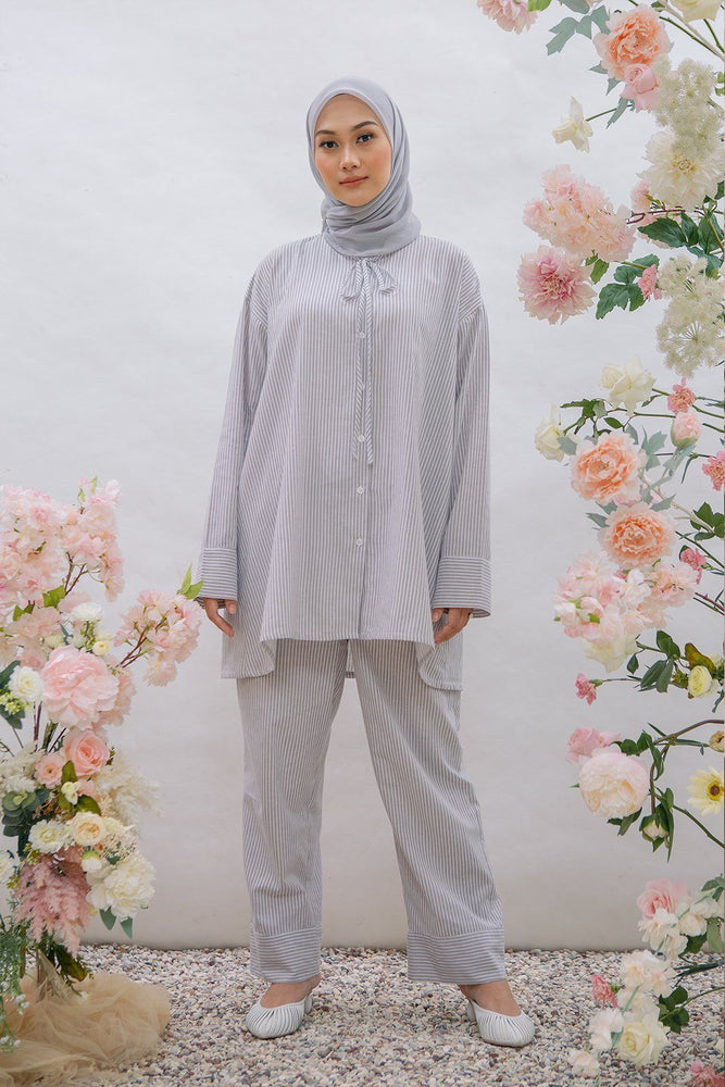 Load image into Gallery viewer, Hc x Nada Salvia Stripe Grey Set