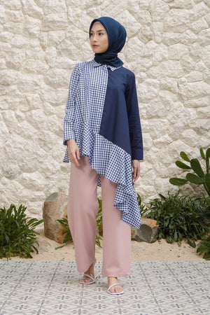 Janny Navy Gingham