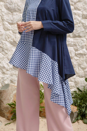 Load image into Gallery viewer, Janny Navy Gingham
