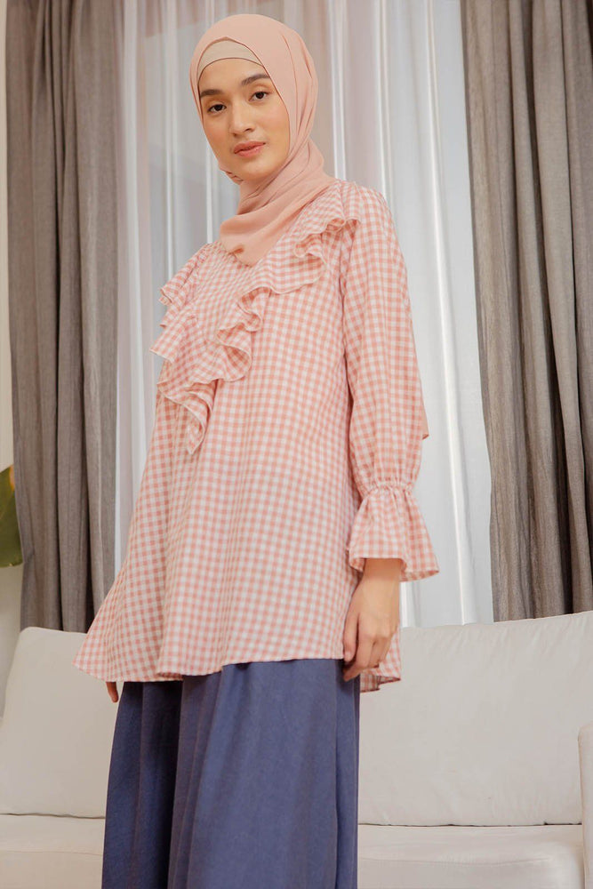 Load image into Gallery viewer, Laquan Pink Gingham top